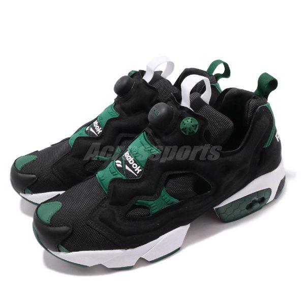 Reebok 慢跑鞋 Insta Pump Fury OG MU 黑 綠 女鞋 休閒鞋 運動鞋【PUMP306】 DV8292