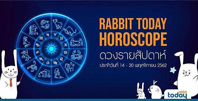 RABBIT TODAY'S HOROSCOPE ดูดวงรายสัปดาห์ ประจำวันที่ 14 - 20 พฤศจิกายน 2562