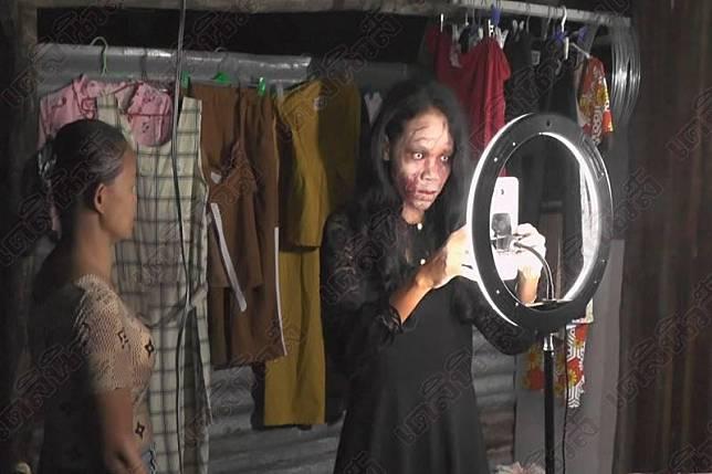 ชาวเน็ตแห่ส่องสาวแต่งหน้าผีไลฟ์สด ขายเสื้อผ้าคนตาย