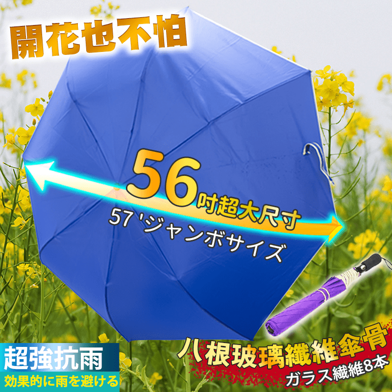 家適帝 JUSTY超大56吋自動開四人雨傘,限時破盤再打78折!