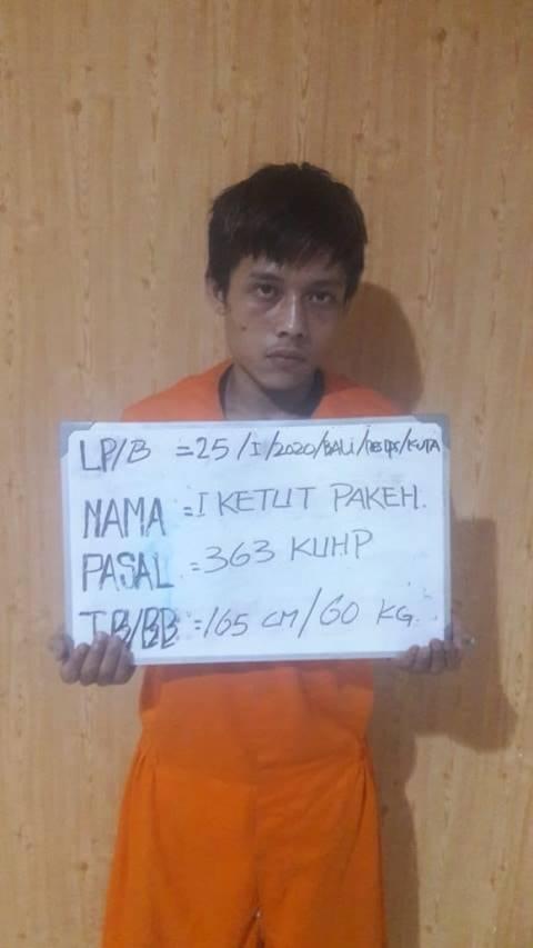 Polisi Tangkap Penjambret Turis Asing di Kuta, Bali