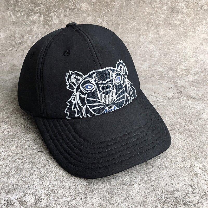 美國百分百【全新真品】Kenzo 帽子 棒球帽 球帽 老帽 配件 高田賢三 法國精品 經典虎頭 印圖 黑色 AY69
