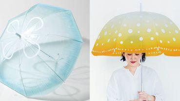 日本「療癒系水母雨傘」!拿著飄逸透明感+可愛水母花紋的傘,下雨天的憂鬱感瞬間煙消雲散啊~