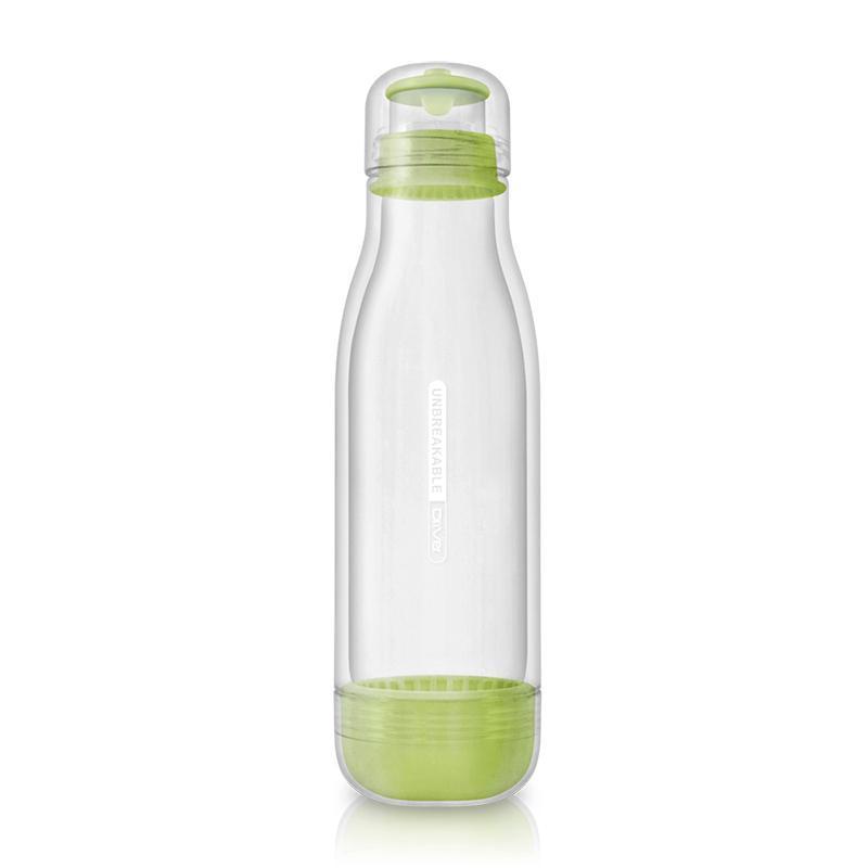 防撞玻璃水瓶500ml (粉綠)