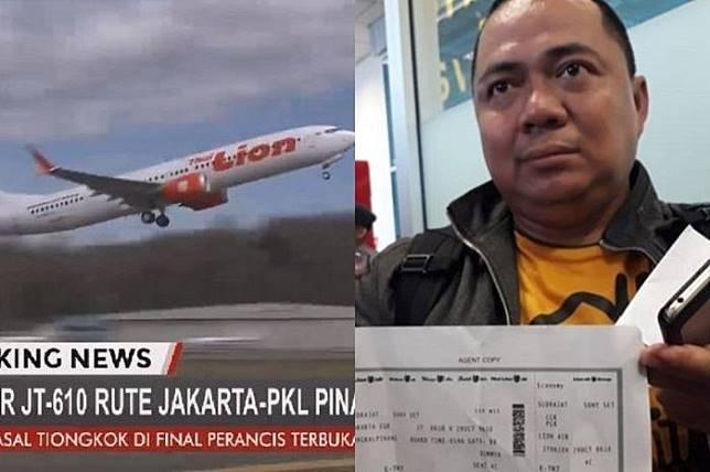 Sony Setiawan Penumpang Yang Batal Naik Lion Air Jt610 Rindu Canda Tawa Temannya Yang Jadi Korban Grid Id Line Today