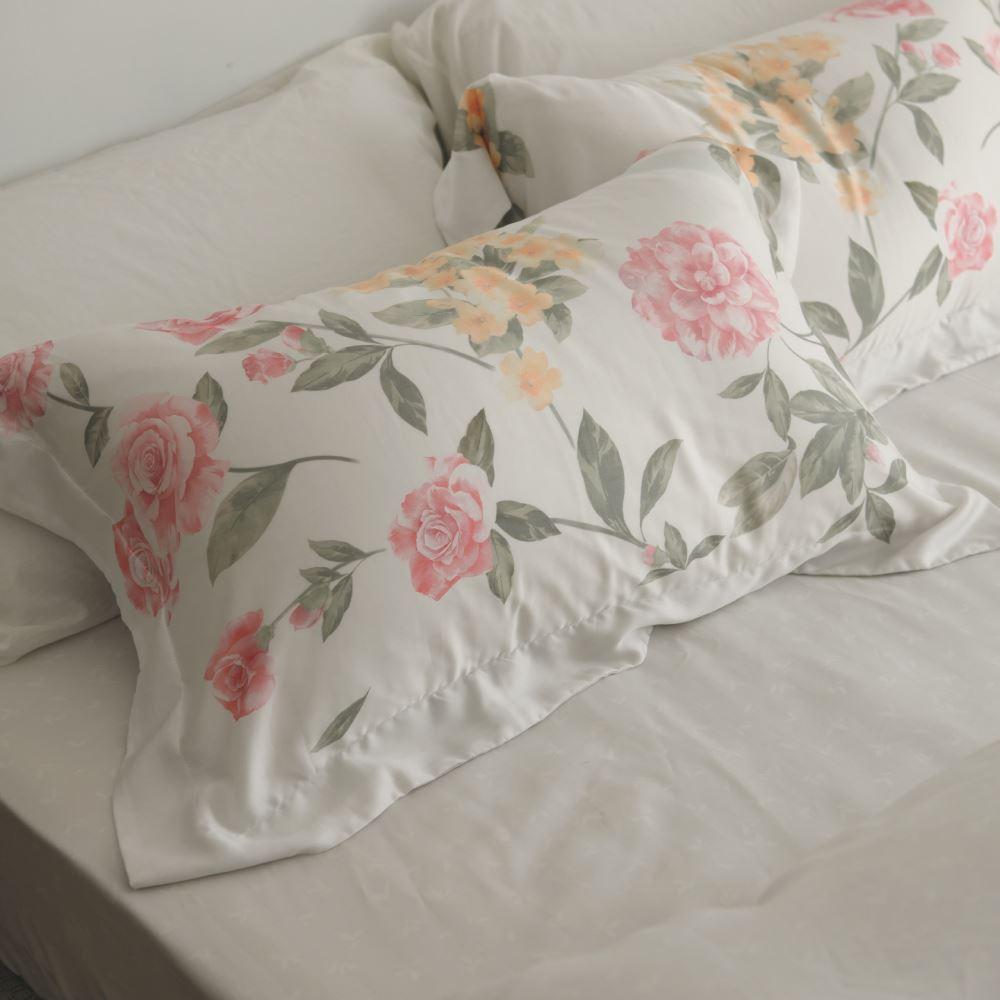 床包被套組(鋪棉兩用被套)-雙人 / 100% TENCEL天絲™萊賽爾纖維 /梨花