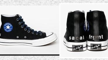重量級Converse,三方聯名sacai x fragment design x Converse,太吸睛啦!