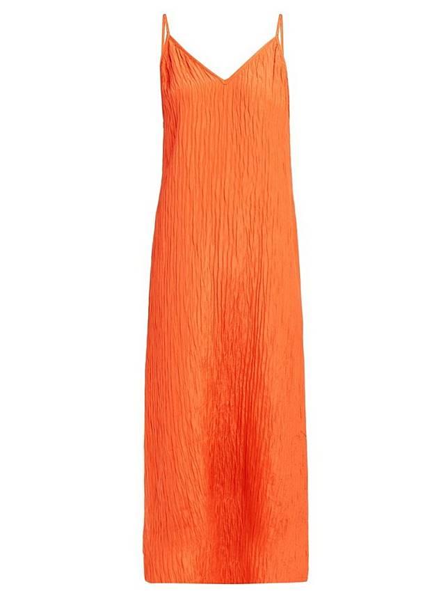 RAEY橙色絲質吊帶裙(互聯網)