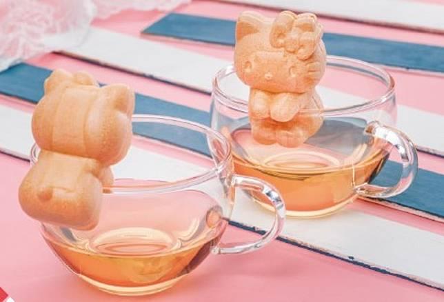 這款「Hello Kitty最中餅」有栗子和紅豆兩種口味,價格不一。(互聯網)