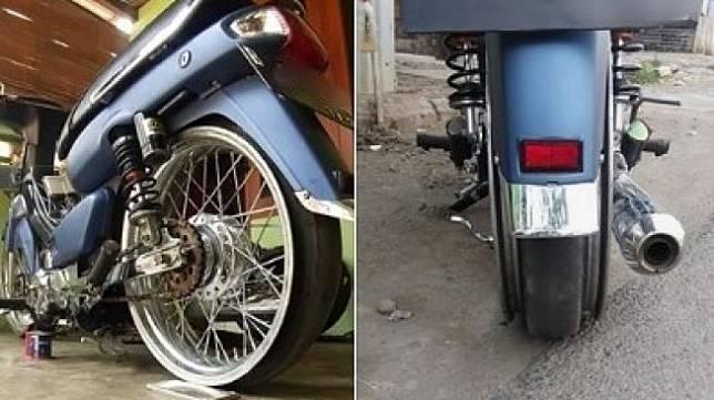 Modifikasi Ban Motor. (Facebook)