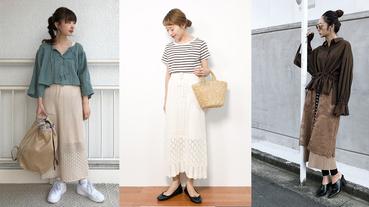 日本女子擅長的質感穿搭術!選搭薄針織裙增添溫柔優雅品味