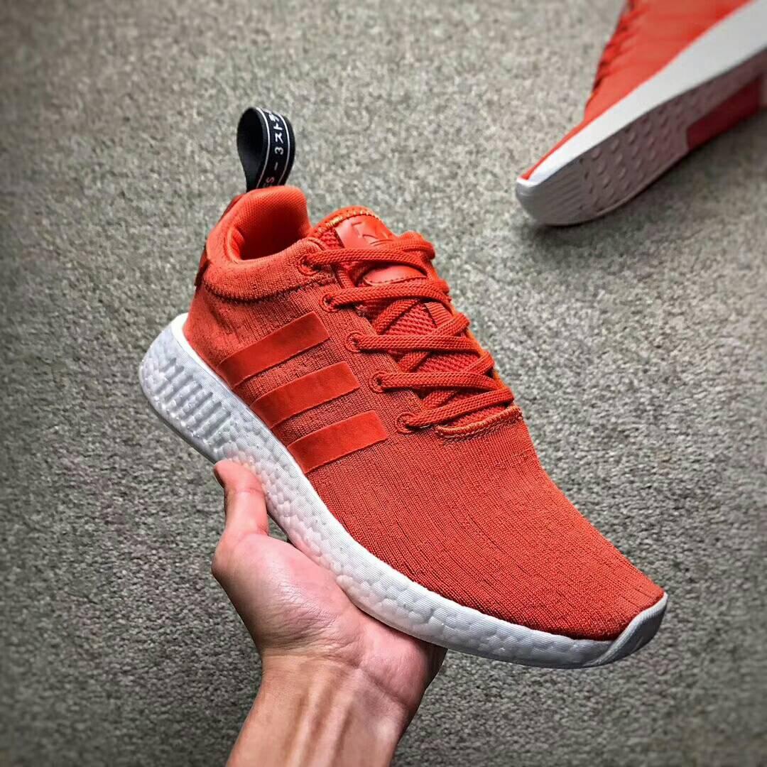 Adidas NMD_R2 PK 網面透氣跑鞋 情侶款