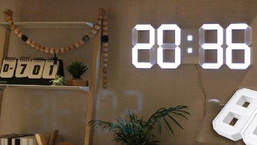 風靡韓國爆紅數字時鐘!擺脫一成不變又死板的圓形時鐘~