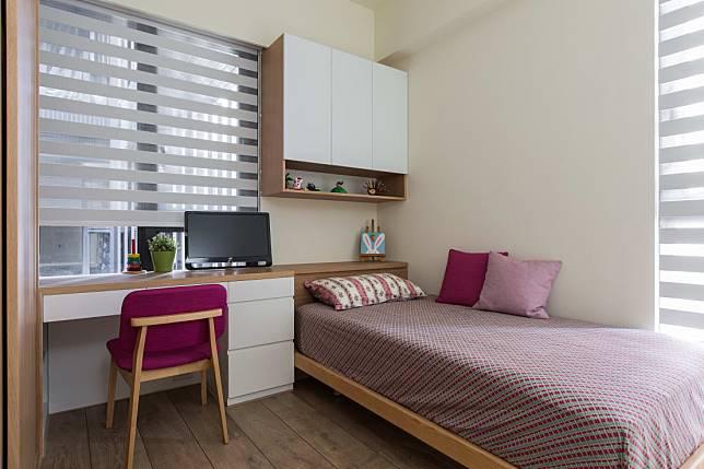 4. 桌面延伸出的床頭牆
