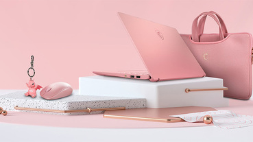 微星推出限量款玫瑰粉色 Prestige 14 ,粉嫩高質感搶攻女性市場