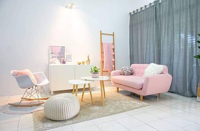 Cantik dan Nyaman dalam Balutan Pink dalam Rumah Berkonsep Skandinavia Milik @casadeydasyaz