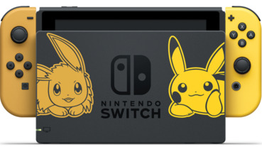 任天堂Switch最新皮卡丘、伊布版超萌登場!主機同捆組合包售價400 美元