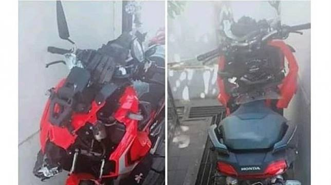 Honda ADV 150 yang viral pasca kecelakaan. (Instagram/@agoez_bandz4)