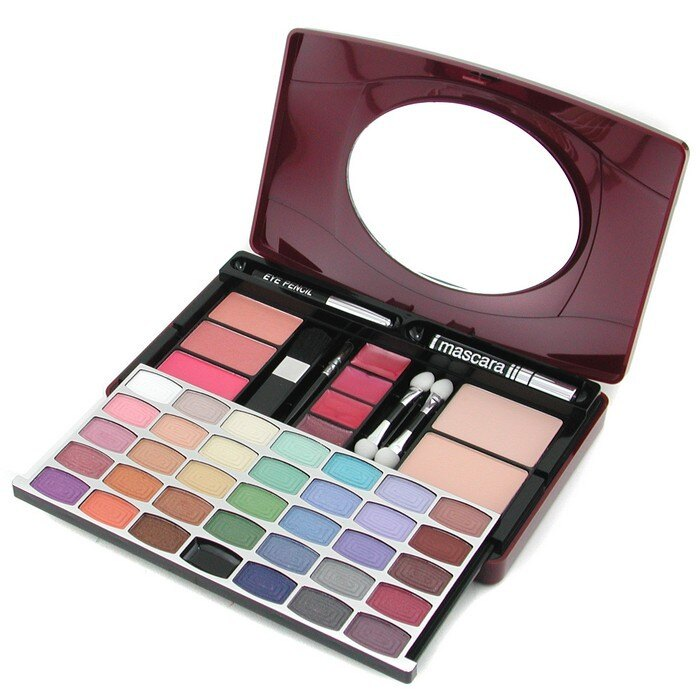 Cameleon 嘉美露 彩妝盒 G1688 (34眼影, 3腮紅, 2粉餅, 1睫毛膏, 4唇彩, 1眼線筆, 4化妝刷) -