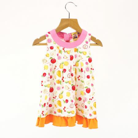 ◆100%純棉台灣製造好放心 ◆水果百匯系列水果圖樣無袖洋裝 ◆純棉材質穿著舒適又透氣 ◆專屬小女孩的甜美可愛