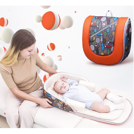 免運便攜嬰兒床中床 新生兒便攜床 多功能寶寶床 媽媽方便攜帶嬰兒旅行床 可折疊實用童床 嬰兒午睡床