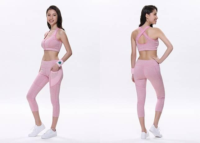 Gina粉紅色運動胸圍及緊身褲(互聯網)