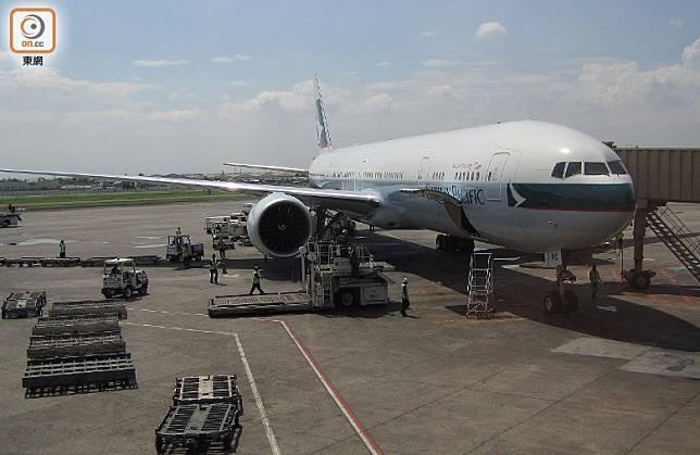 國泰一班客機因食水供應系統故障,需折返香港機場。
