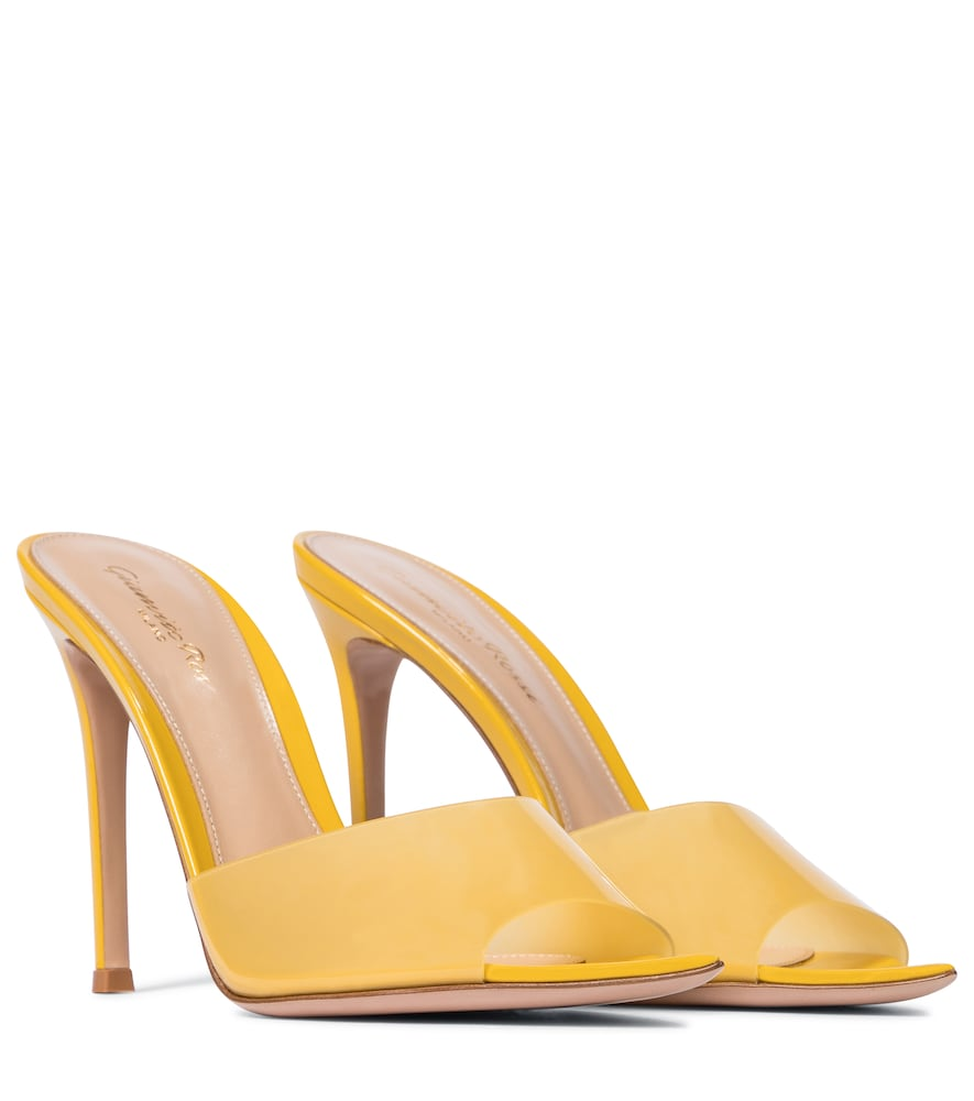 A mimosa-yellow colorway, glossy patent leather base and PVC vamps - we can't decide which of the El