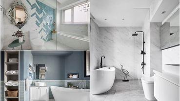 20 坪以下也想要舒服的泡澡!浴缸怎麼挑、坪效放大怎麼做?20 個美型浴室範例告訴你