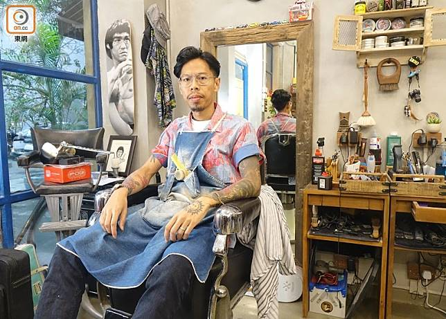 Hair House Barbershop by Adam Chan主理人Adam Chan。(胡振文攝)