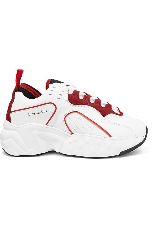 ACNE STUDIOS Manhattan白色拼紅色運動鞋(互聯網)