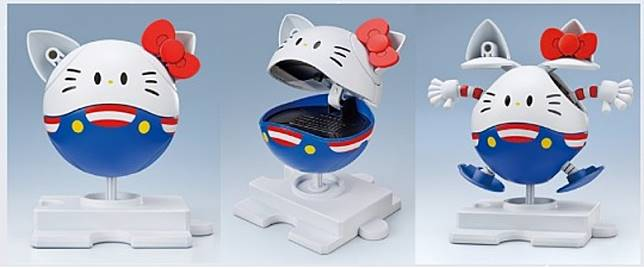高達經典吉祥物Haro也與Hello Kitty Cross-over。(互聯網)
