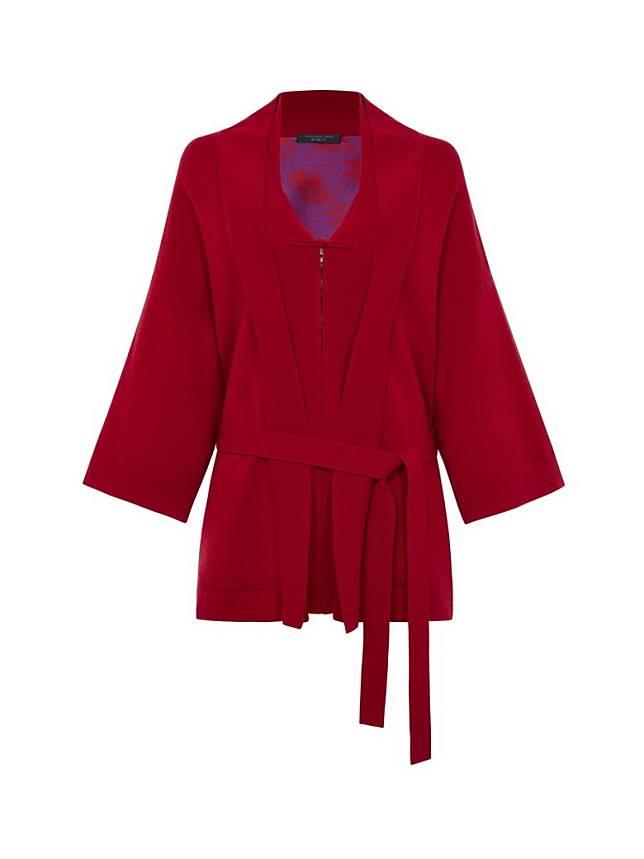 SHANGHAI TANG Wool Cashmere Kimono Cardigan with Chinoiserie Silk Lining (互聯網)