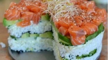 海外流行的壽司食譜:懶人壽司派