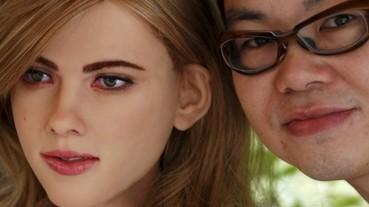 從無專業背景開始 香港宅男製作出「史嘉蕾喬韓森」超仿真機器人!