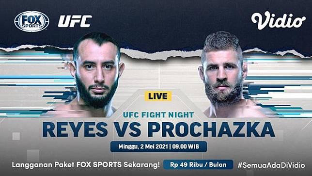 Streaming UFC Fight Night hanya di Kanal FOX Sports