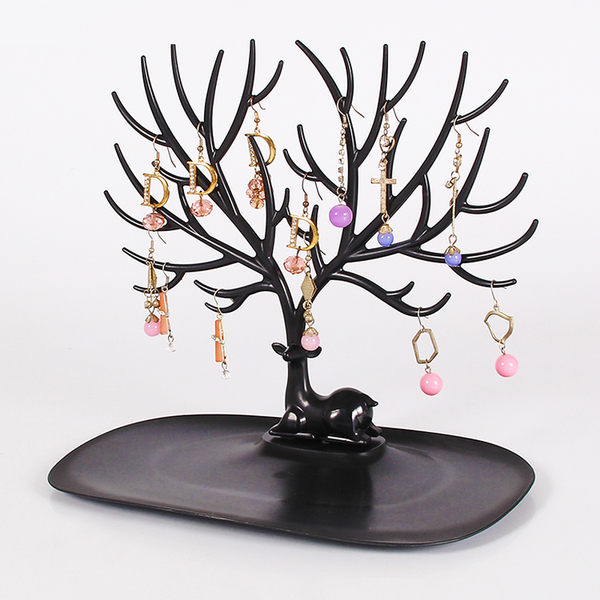 【Miss Sugar】創意 鹿角樹 耳環 收納架 桌面 飾品 首飾 多功能【K4005819】