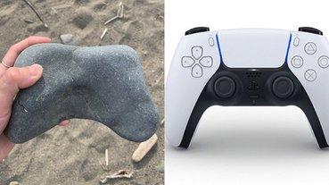 日本網友沙灘撿到「遊戲手把」石塊,引眾人爆笑:這根本是古人的電玩化石!