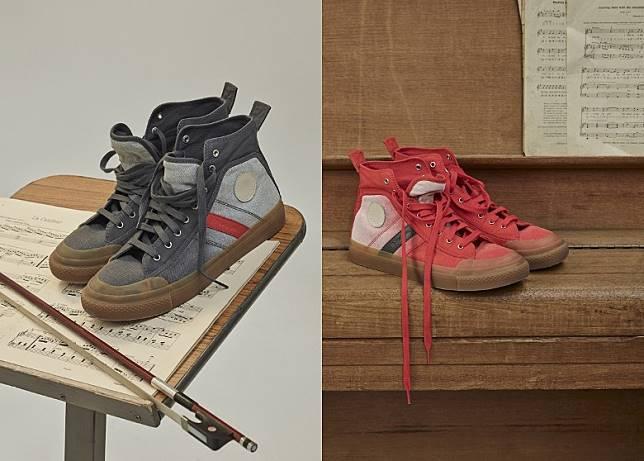 丹寧帆布運動鞋。(互聯網)