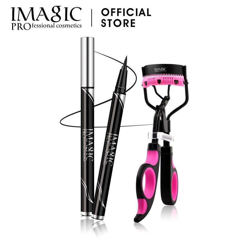 """歡迎來到IMAGIC購買此眼妝套裝,您將獲得""""睫毛夾+防水眼線筆""""特徵:ye眼線筆液體眼線筆的筆尖柔軟,柔軟,可提供順滑,精確的塗抹效果。雙層乾燥,防水,防油和防汗可靠的顏色,持久產品描述:1.適用於"""