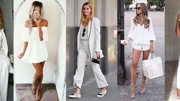 擺脫麵粉袋臃腫感,學學時尚潮人怎麼穿「一身白」