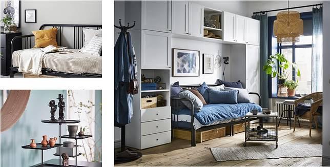 IKEA Pop-up Hotel有9 種不同主題房間,如圖中的「收藏家」,可將房間變成私人展覽空間。