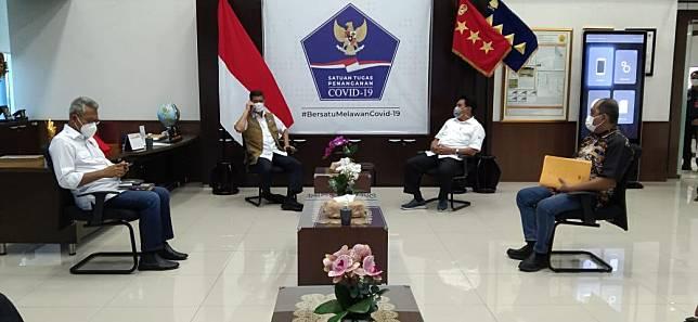 Temui Kepala BNPB, Gaghana Bicarakan Izin Produksi PT TMS