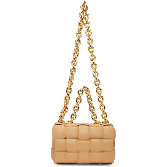 Bottega Veneta 驼色 The Chain Cassette 单肩包