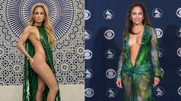 網友瘋傳JLO半裸時尚大片!因為那身材比18年前的露臍裝還火辣啊