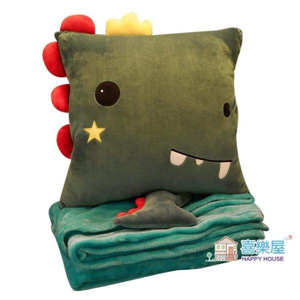 午睡枕 抱枕被子兩用辦公室靠背墊靠枕三合一空調被午休枕頭神器午睡毯子