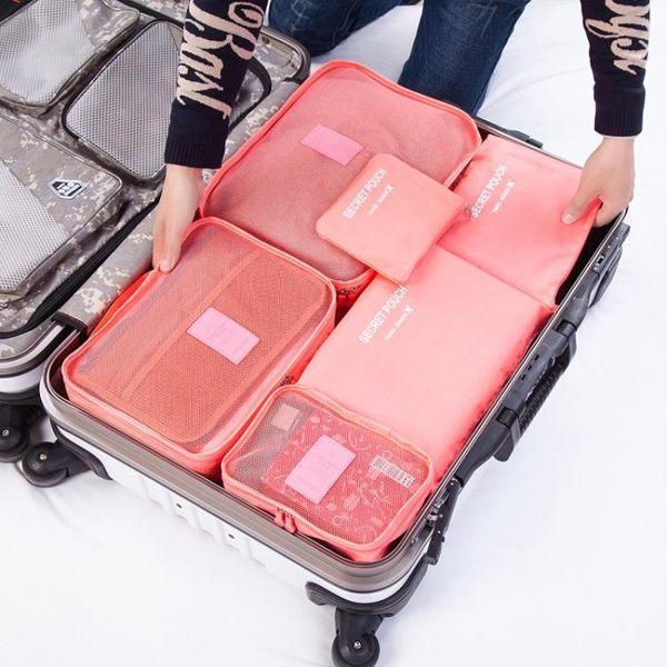 收納袋旅行出差衣服用品洗漱包行李箱收納袋分裝化妝包整理打包便攜套裝