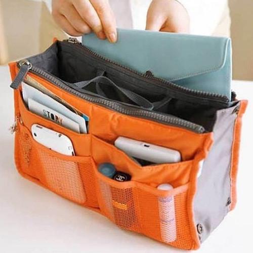 雙拉鍊包中號 13色BAG IN BAG 雙層超大 加厚手提式收納包