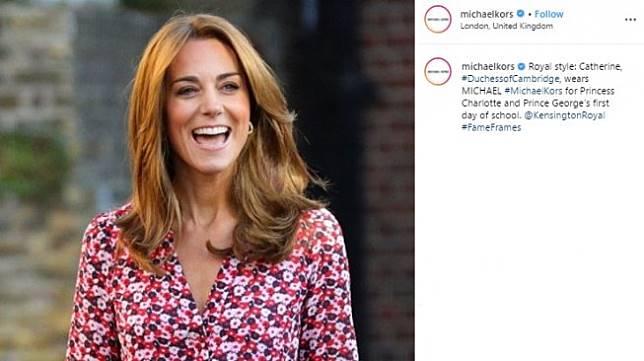 Warna Rambut Baru Kate Middleton. (Instagram/@michaelkors)