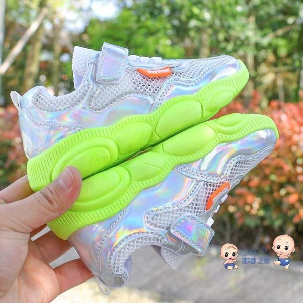 運動鞋 網紅小熊鞋子老爹鞋春新款兒童鞋運動鞋透氣網鞋男童女童鞋小白鞋 1色